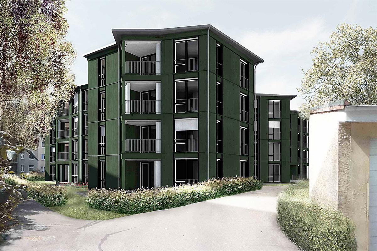 Omlin architekten gmbh neubau mehrfamilienhaus im hof basel for Architektur basel